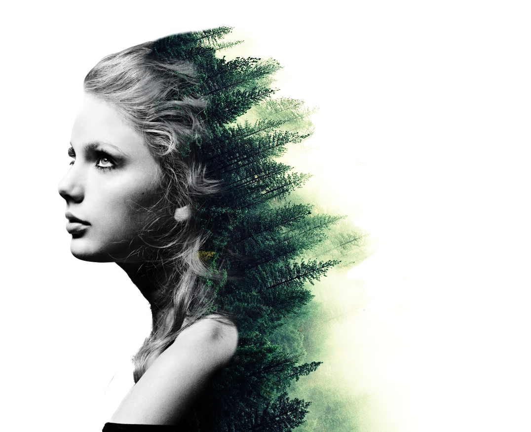 Taylor Swift double Exposure